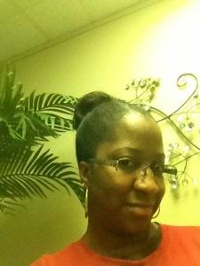 Bun on Straightened Hair